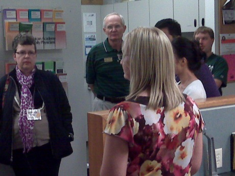 Members of the UND New Faculty and Administrators Bus Tour visited the UND School of Medicine and Health Sciences Southwest Campus Friday.