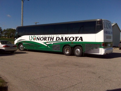 University of North Dakota Tour Bus